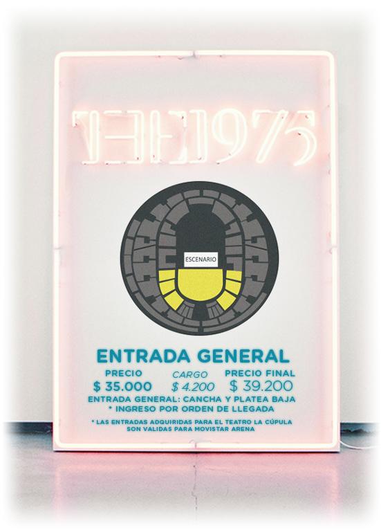 Precio Entradas the 1975 en Chile