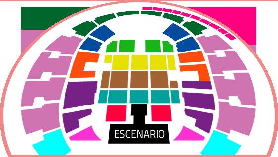 Mapa Ariana Grande Movistar Arena - Entradas 2017