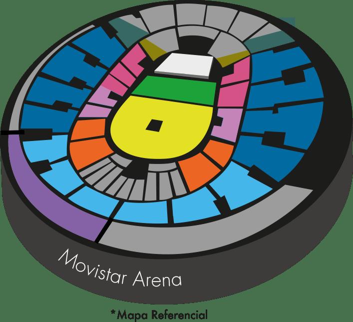 Mapa Daddy Yankee Movistar Arena - Entradas 2019