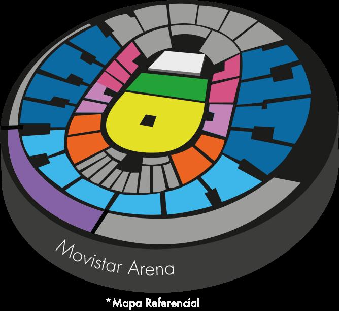 Movistar Arena - Viernes, 31 de mayo 21:00 hrs. | Imagen referencial