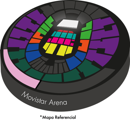 Movistar Arena - Mapa referencial