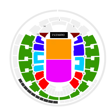 Mapa Gorillaz Movistar Arena - Entradas 2018