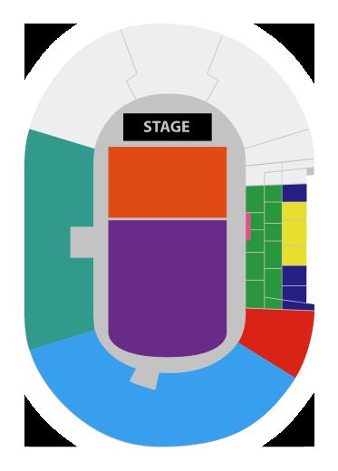 Mapa Estadio Nacional Radiohead en Chile - Festival SUE 2018