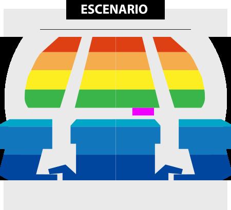 Mapa Teatro Oriente Mayumana en Chile