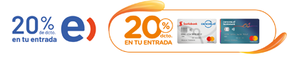 20% de dcto. en tu entrada - Clientes Entel