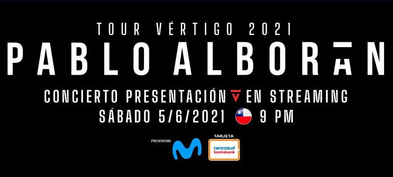 pablo alborán tour vértigo 2021 streaming venta de entradas