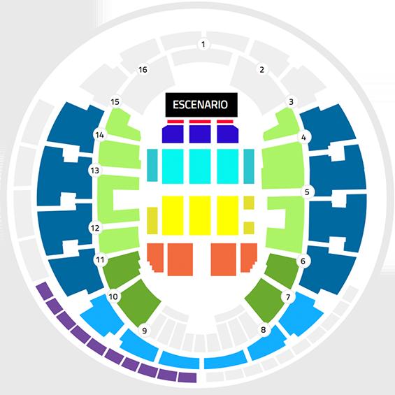 Mapa El gusto es Nuestro Movistar Arena - Entradas 2017