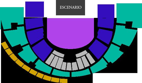 Mapa Concierto Evanescence Chile 2017 - Entradas
