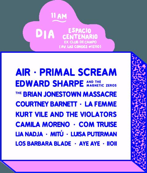 Lineup Día Fauna Primavera 2016
