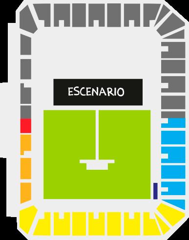 Mapa Concierto Green Day Estadio Bicentenario
