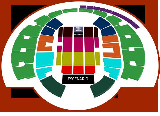 Mapa Harry Styles Movistar Arena - Entradas 2018