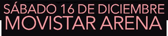 Sábado 16 de Diciembre Movistar Arena - Concierto Jamiroquai