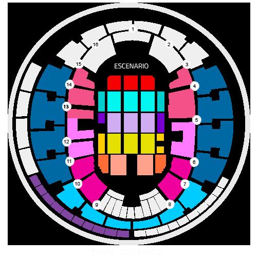 Mapa Precios Jean-Michel Jarre Movistar Arena - Entradas 2018