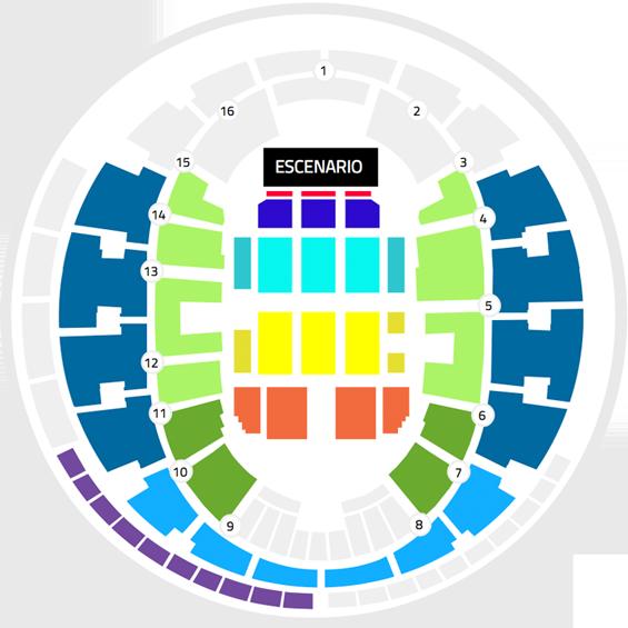 Mapa Joaquín Sabina Movistar Arena - Entradas 2017