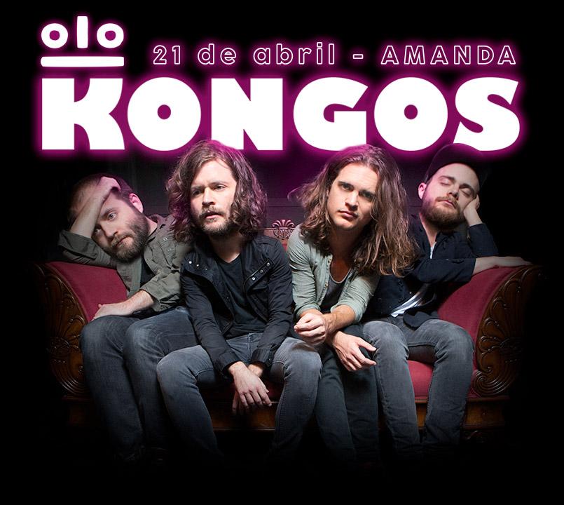 Concierto Kongos, 21 de abril, Club Amanda, Santiago de Chile