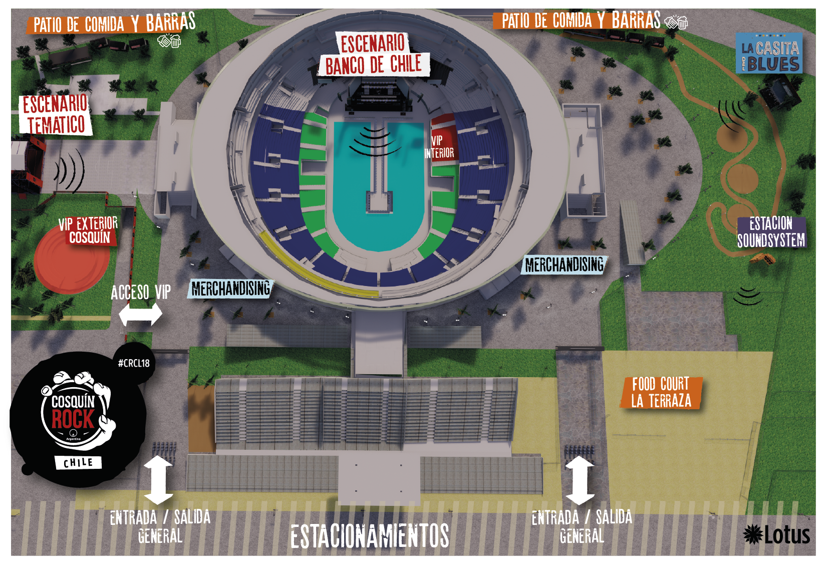 Mapa Exterior Movistar Arena
