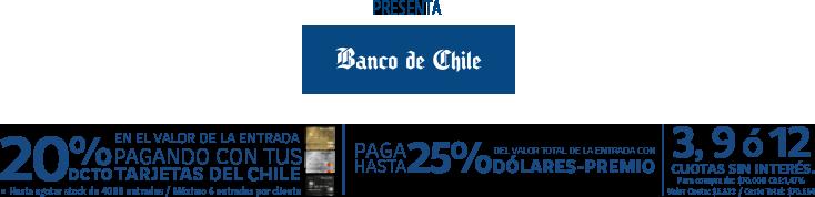 Descuento 20% Banco de Chile