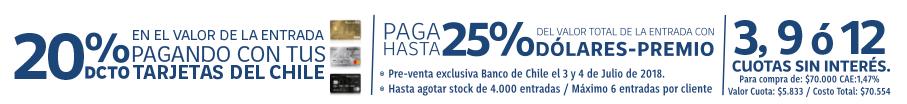 Descuento entradas con Banco de Chile