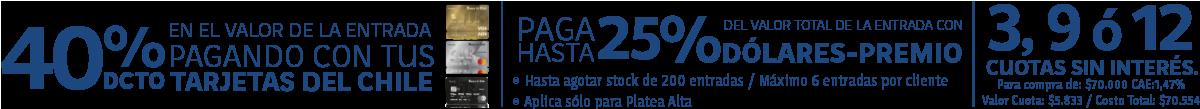 20% de descuento con Banco de Chile