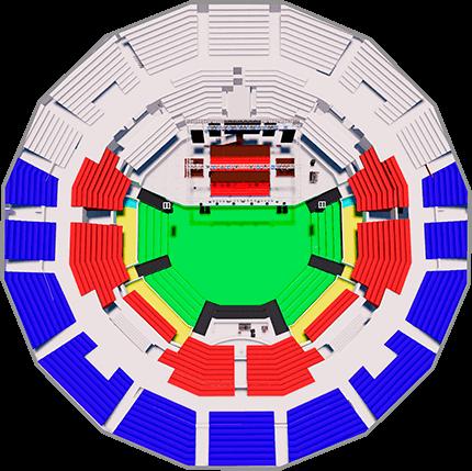 Mapa entradas y precios Teatro Caupolicán