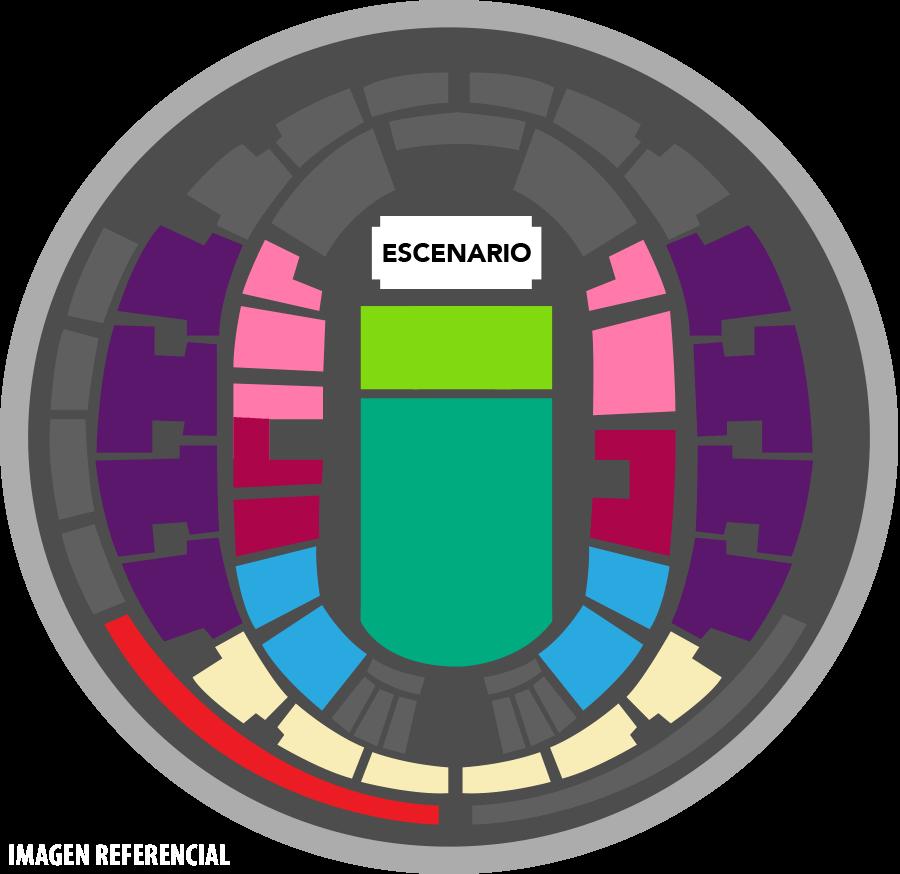 Movistar Arena - Mapa referencia sujeto a cambios