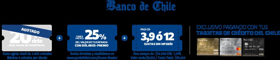 Banco de Chile - Descuentos exclusivos pagando con tarjetas Crédito del Chile
