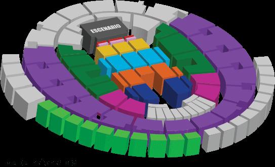 Mapa Movistar Arena Concierto Laura Pausini 2018