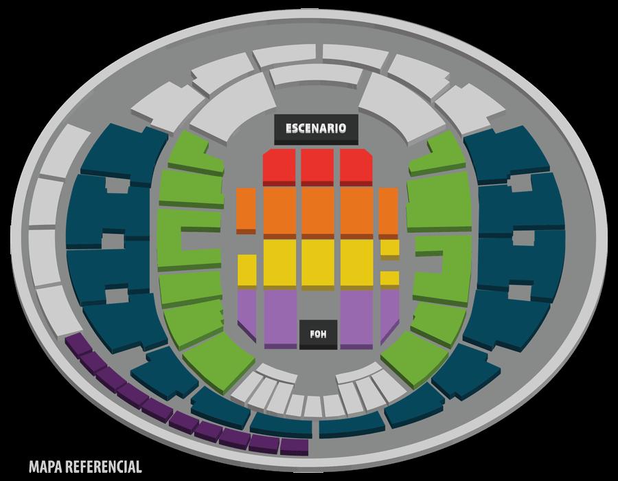 Movistar Arena - Mapa referencial