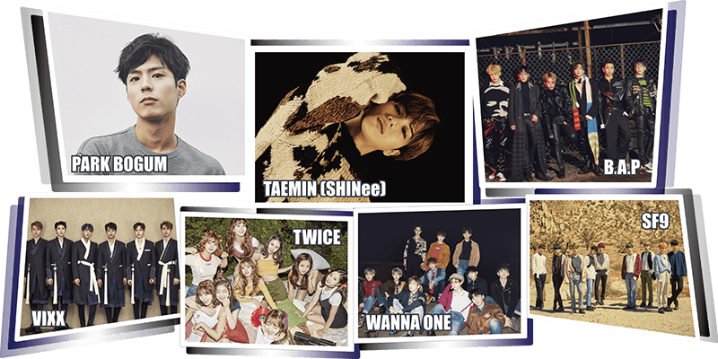 Music Bank, con Taemin (SHINee), B.A.P, VIXX, Twice, Wanna One, SF9 y Park Bogum