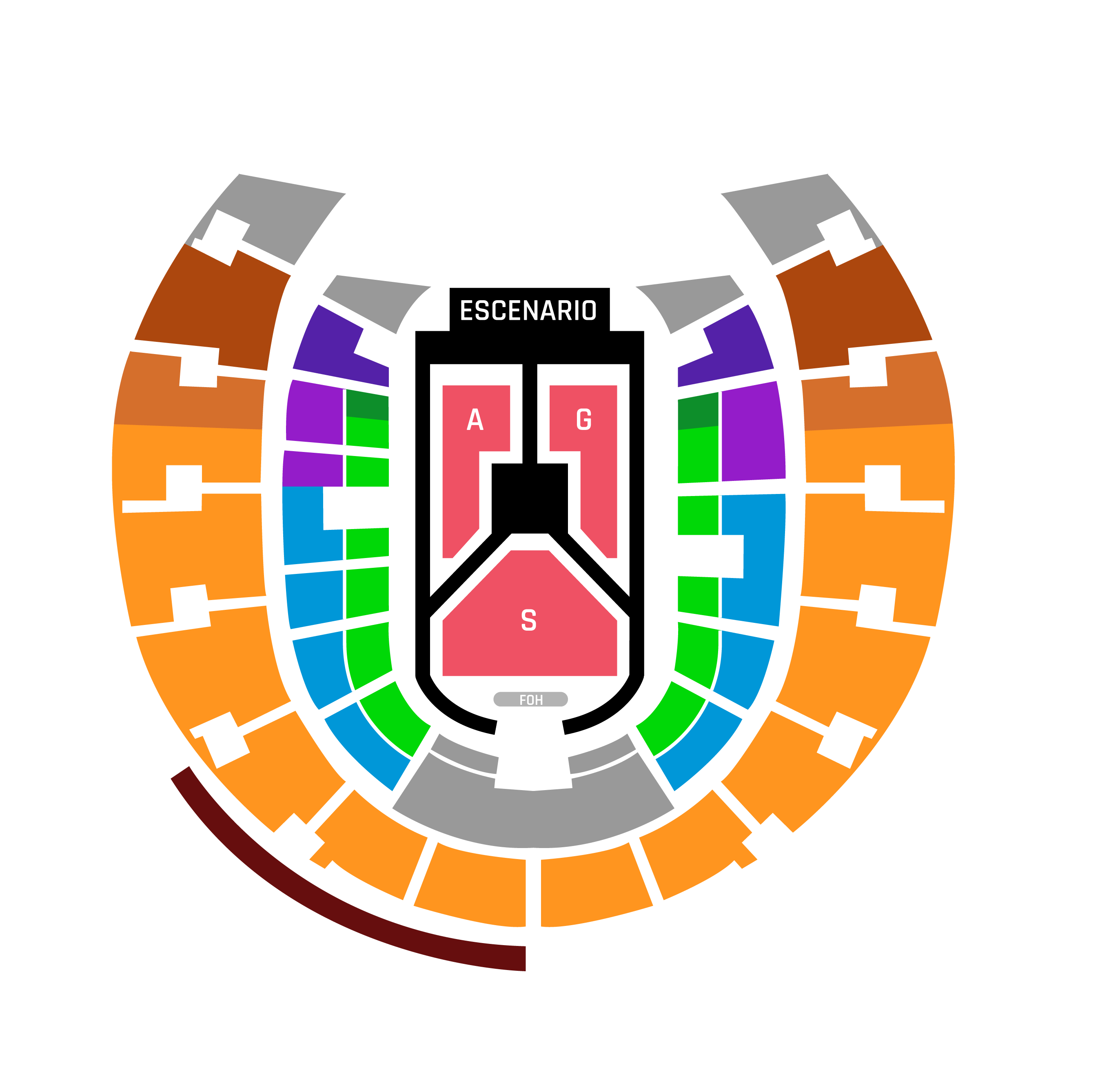 Mapa entradas GOT7 Movistar Arena