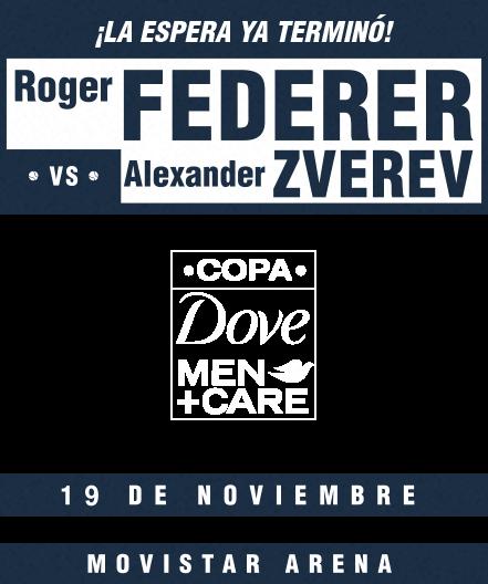 Roger Federer vs Alexander Zverev | 19 de noviembre 2019 | Movistar Arena