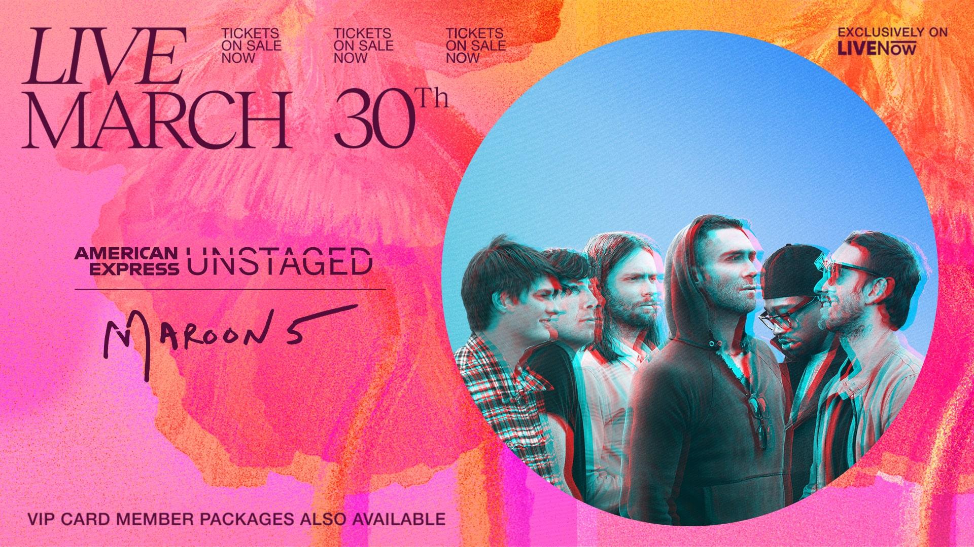 martes 30 de marzo maroon five live