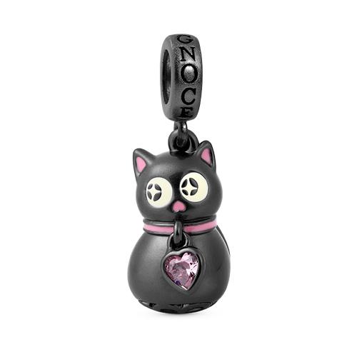 Glow in the Dark Cat charm para pulseras