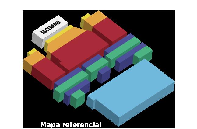 Mapa entradas concierto Raphael Teatro Municipal Chillán