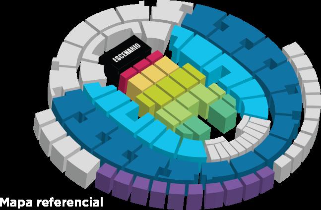 Mapa entradas concierto Raphael Movistar Arena Santiago