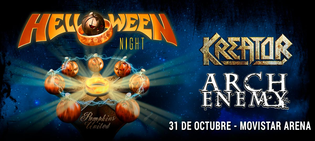 Helloween Night Chile, con Arch Enemy y Kreator - 31 de Octubre en Movistar Arena