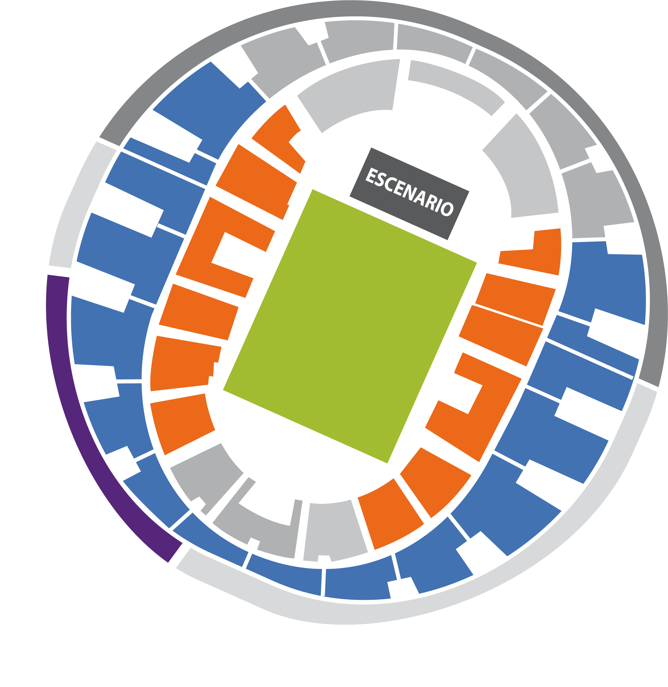 Mapa tickets Helloween Night en Chile Movistar Arena