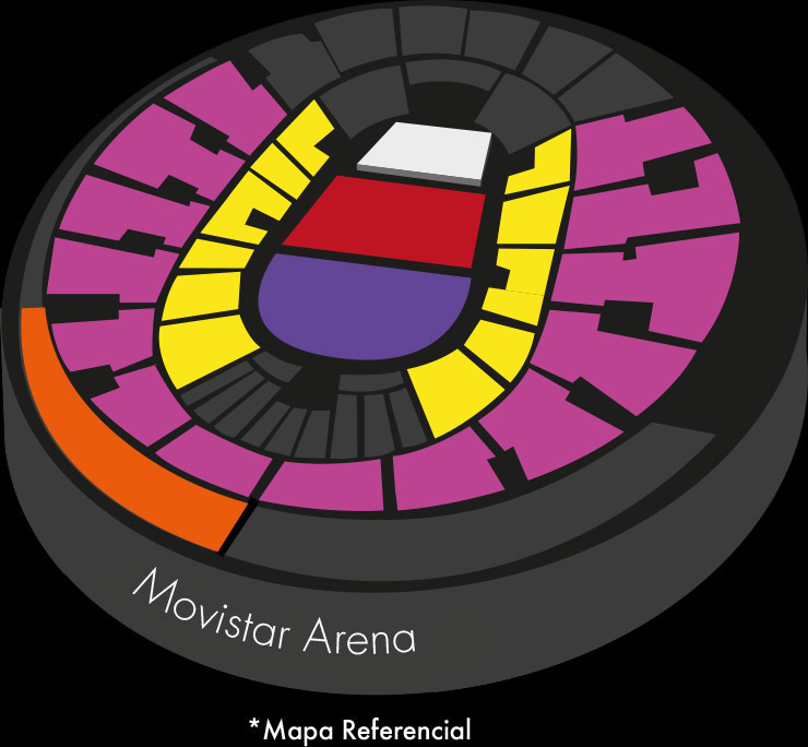 Mapa Movistar Arena - Concierto Residente