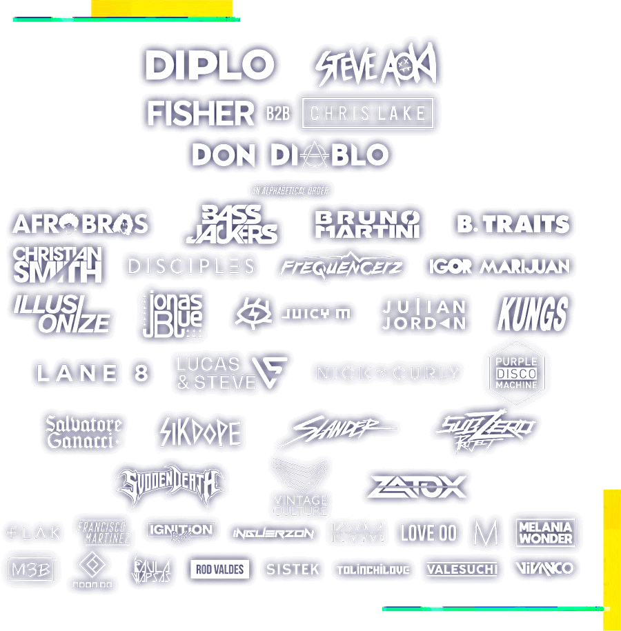 Line Up Oficial Creamfields Chile 2019