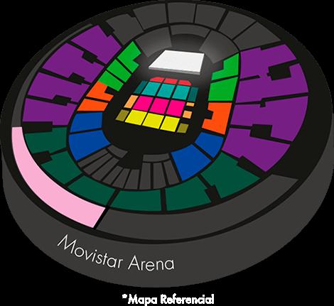 Mapa entradas y precios
