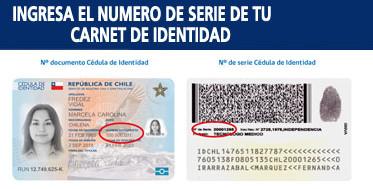 Número de documento o número de serie de su cédula de identidad