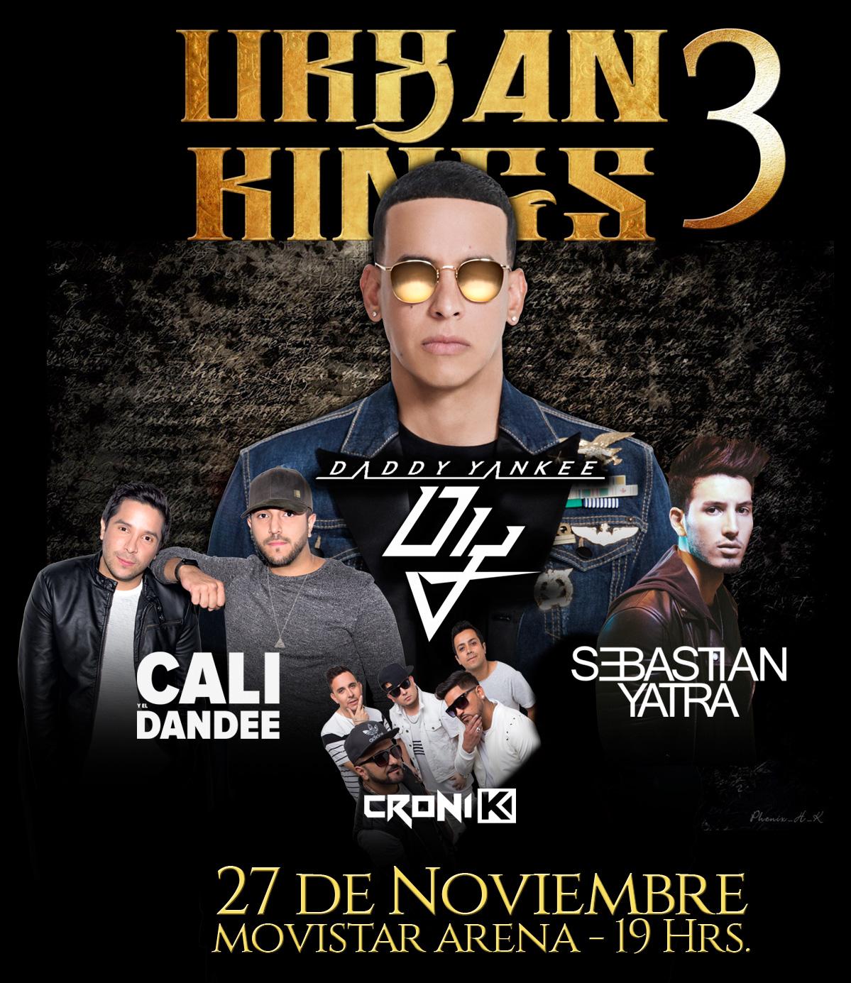 Entradas Urban Kings 3 con Daddy Yankee y muchos más en Chile