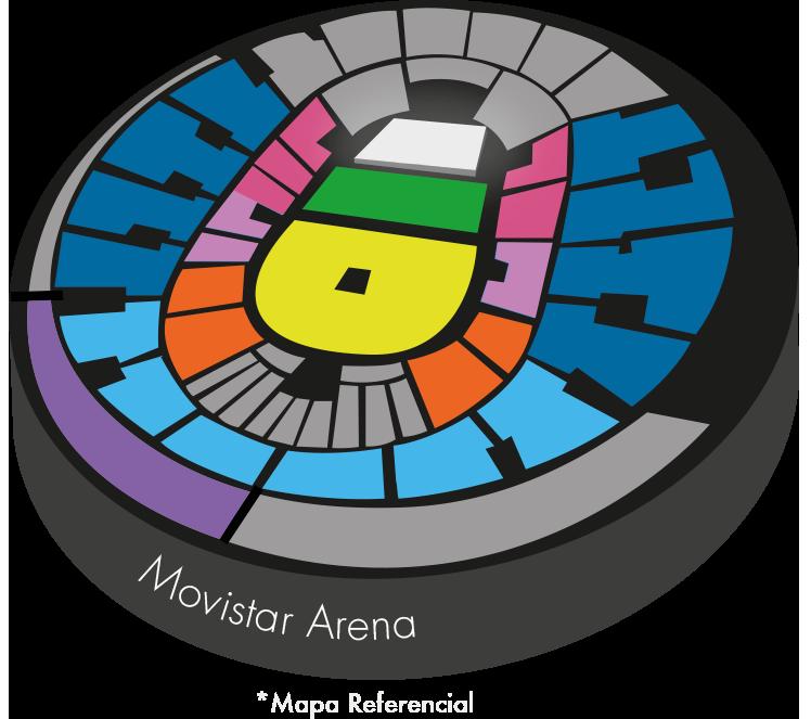 Mapa y precios entradas Urban Kings 3 en Movistar Arena