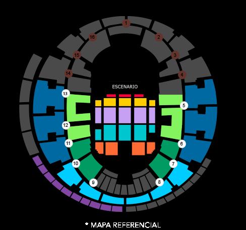 Mapa Precios Les Luthiers Movistar Arena - Entradas 2018