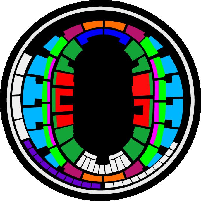 Mapa Movistar Arena Monster Jam 2018