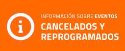 Información eventos cancelados