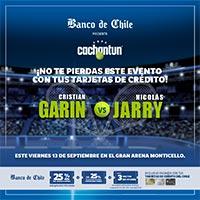 Cristian Garin v/s Nicolas Jarry Gran Arena Monticello - San Francisco de Mostazal