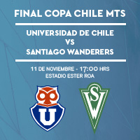 Universidad de Chile vs S. Wanderers Estadio Ester Roa - Concepción - Concepción