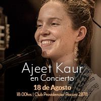 Ajeet Kaur en Concierto Club Providencia - Providencia