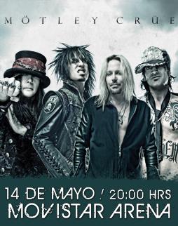 Mötley Crüe Movistar Arena - Santiago